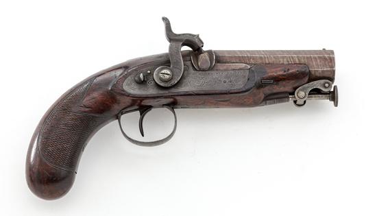 Antique British Lg. Bore Single Shot Perc. Pistol