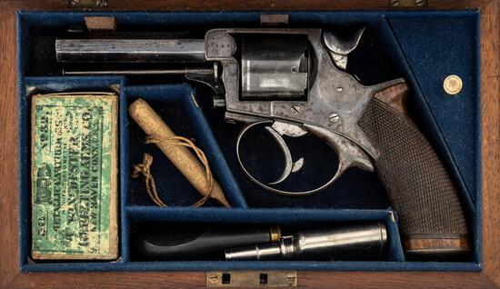 Antique Cased English Tranter Revolver