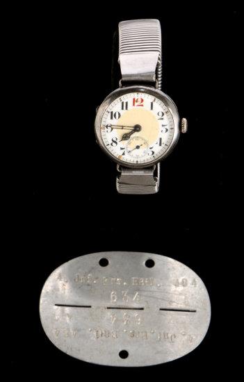 German Wrist Watch & Dog Tags
