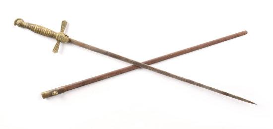 1870-1920 Unidentified Sword & Scabbard