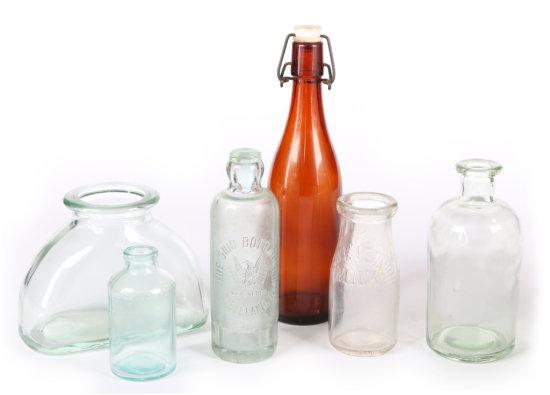 Vintage Glass Bottles (6)