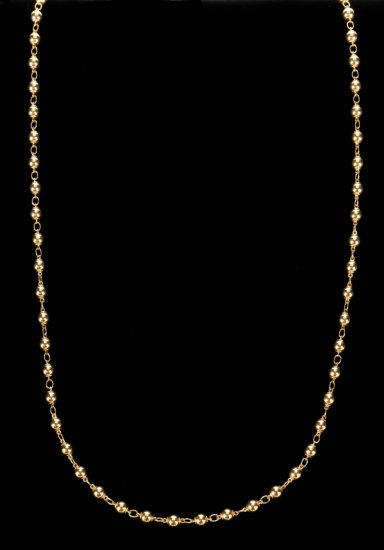 Gold Bead & Chain Necklace
