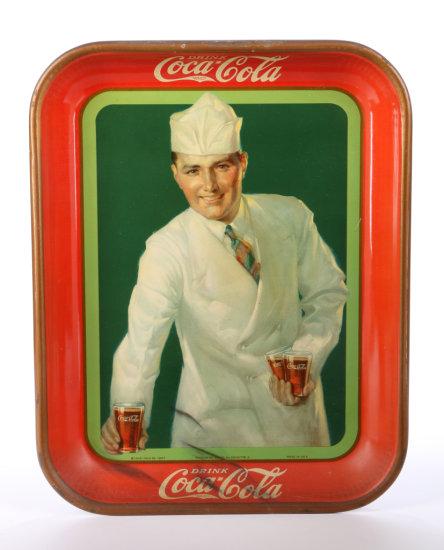 Original 1927 Coca-Cola Soda Jerk Tray
