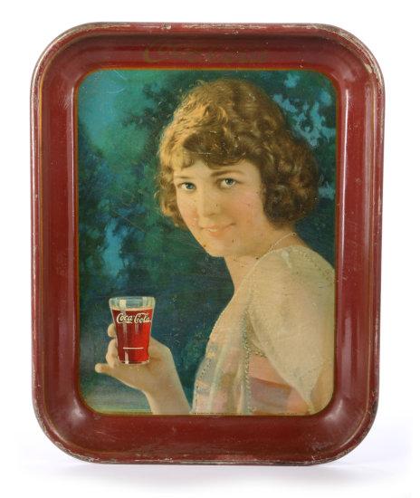 Original 1924 Coca-Cola Smiling Girl Tray