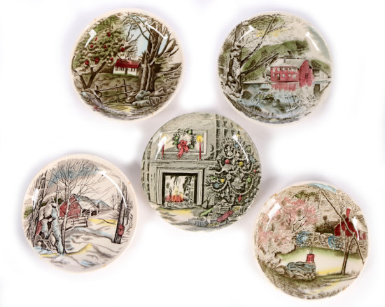 5 Johnson Bro's. Butter Pat Plates or Coasters