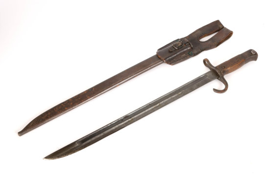 WWII Japanese Bayonet With Scabbard & Frog