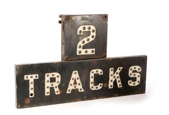 2 Tracks Railroad Sign