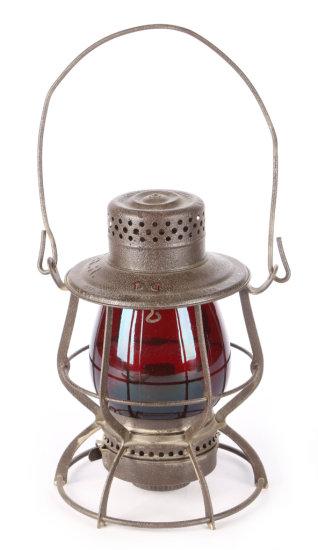 "Pennsylvania Railroad ""Casey"" Tall Globe Railroad Lantern by The Keystone Lantern Co."