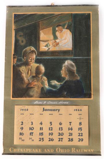 Chesapeake & Ohio Railway 1944 Calendar Prototype