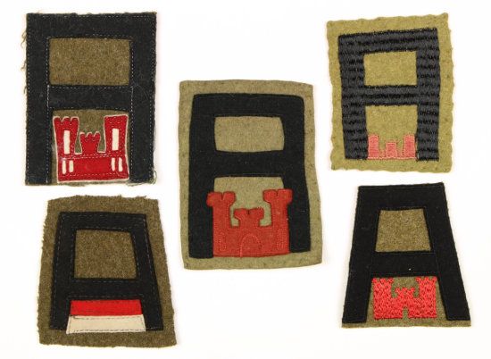 WWI First Army Engineers Patches (5).