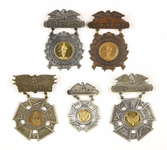 National Maneuvers/Defenders of U.S.A. Medals (5)
