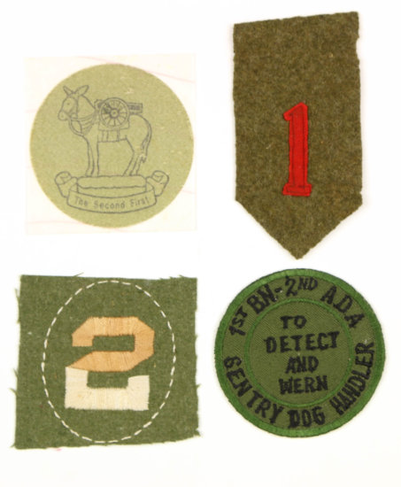 WWI Patches (3) & Decal