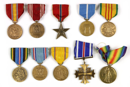 U.S. Medals With Ribbons (10)