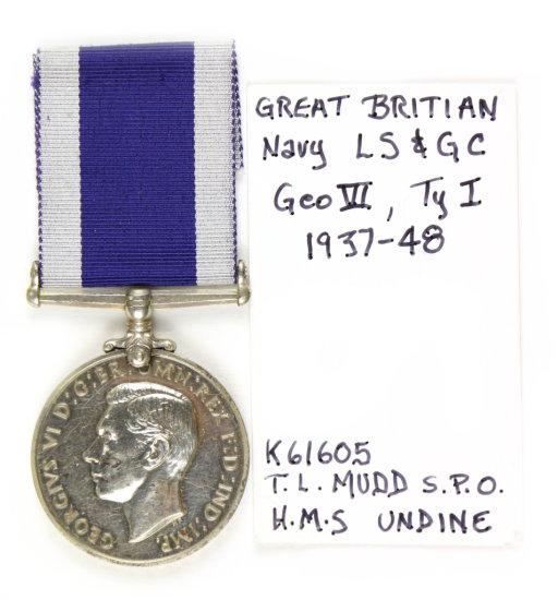 Gr. Britain Navy LS & GC Medal