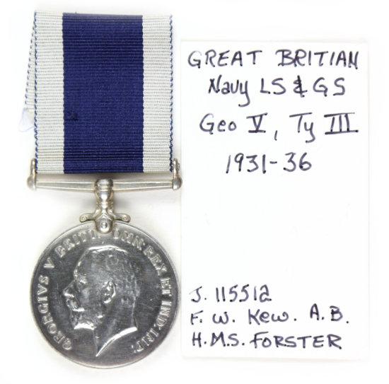Gr. Britain Navy LS & GS Medal