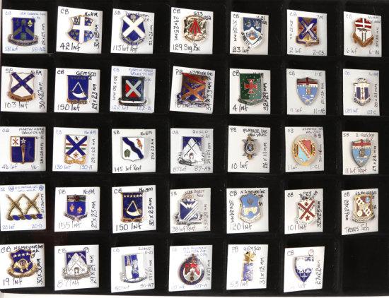 U.S. Army Crest Pins (34)