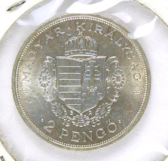 Hungarian Coin - II Rakoczi Ferenc 1676-1735 2 Pengo