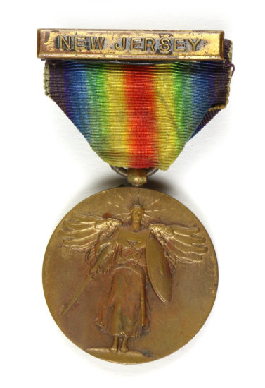 WWI Victory Medal With New Jersey Bar