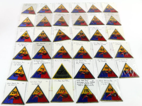 U.S. Army Armored Division Patches (35)