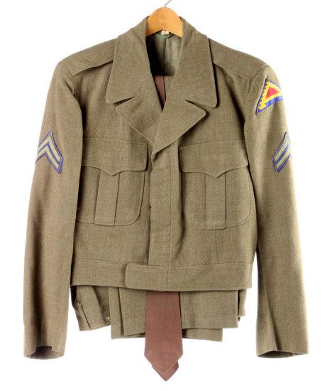 WWII U.S. Army Jacket, Pants & Tie