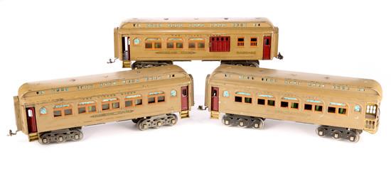 Lionel Lines Parlor Car #418, Parlor Car #419 and Observation Car #490
