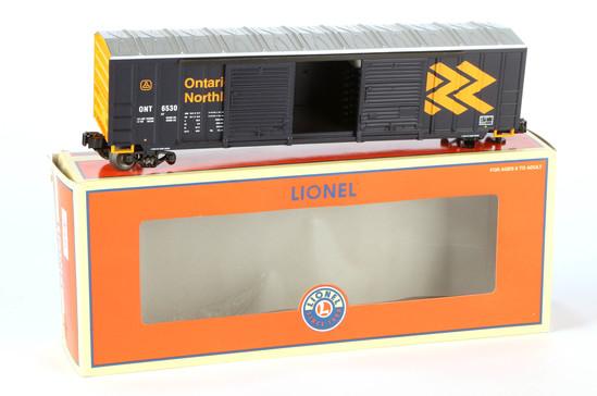 Lionel Ontario Northlands Double Door Boxcar With Auto Frame Load
