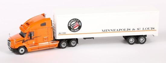 Freightliner 3-Axle Tractor w/M & STL RR Box Trailer