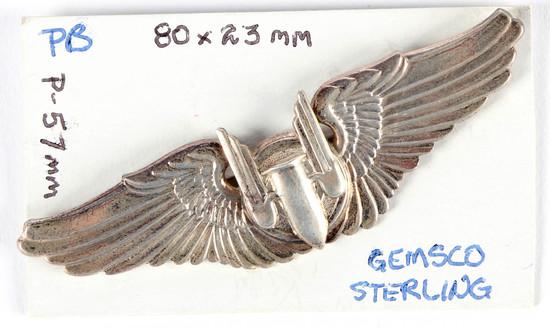 U.S. Army Air Force Aerial Gunner Wings Pin