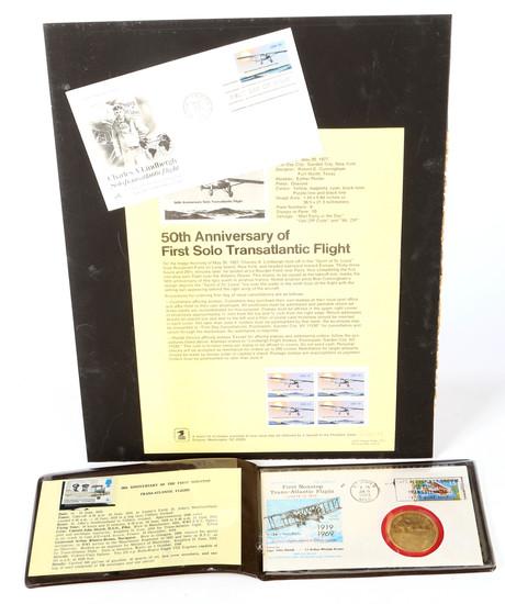 50 Year Transatlantic Flight Anniversary Stamp Covers (2)