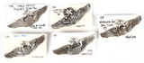U.S. Army Air Corps Wings Pins (5)