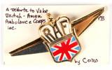 Early WWII British American Ambulance Corps Donation Pin