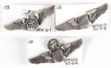 U.S. Air Force Navigator Wings Pins (3)