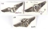 U.S. Air Force Flight Surgeon Wings Pins (3)