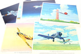 Charles H. Hubbell Color Aviation Lithographs (12)