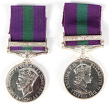 Gr. Britain Army Genl. Svc. Medal (2)