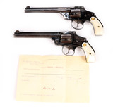 A Pair of Smith & Wesson 3rd Model, Top Break Revolvers in .38 Smith & Wesson