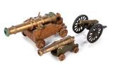 Three Brass Canons