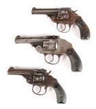 Three Antique 5-Shot Revolvers