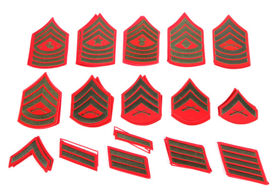 U.S.M.C. Chevrons and Service Stripes