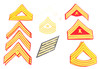 Military Chevrons & Service Stripes