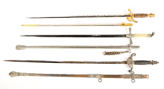 Three Lodge/Masonic Swords