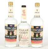 Everclear Grain Alcohol and Clear Corn  Whiskey - 4 Bottles -Local Pickup Only
