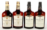 Canadian Club Whiskey Glass Bottles - 4 Bottles -Local Pickup Only