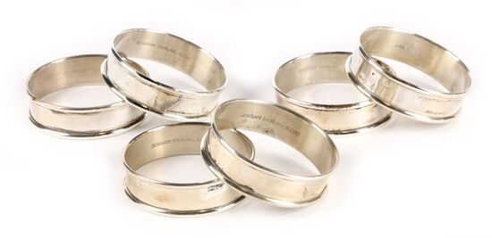 Six Gorham Napkin Rings