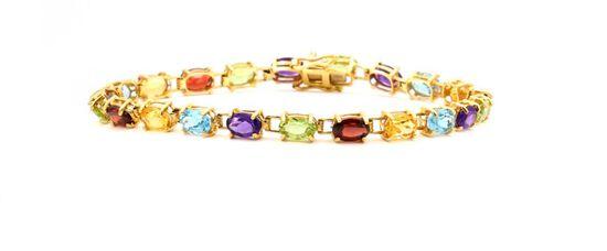 14K Multi Gem Stone Bracelet