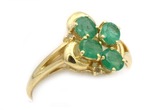 14K Gold & Emerald Ring