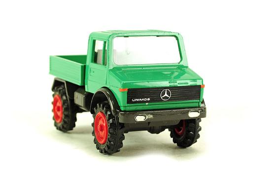 Mercedes Benz Unimog 1300 Flatbed Truck - Green