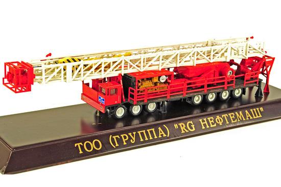 Russian Oil Rig Model on Base