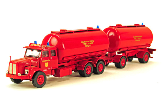 Scania Tanker w/Pup Trailer - Cambridgeshire Fire & Tanker