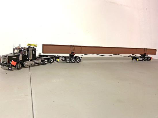 Kenworth Tractor w/Bridge Beam Trailer & Load